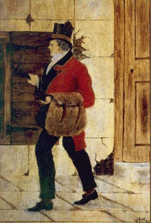London Postman 1830 - Oil Painting.