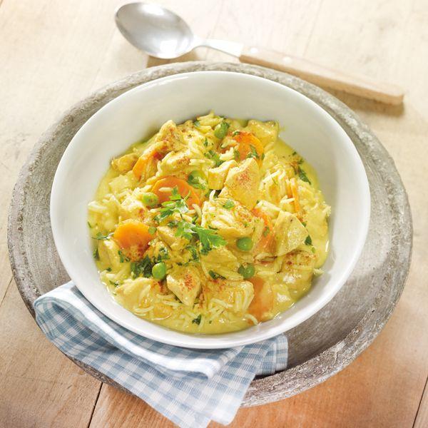 WeightWatchers.de: Weight Watchers Rezept - Hähnchen Curry Topf mit Reis