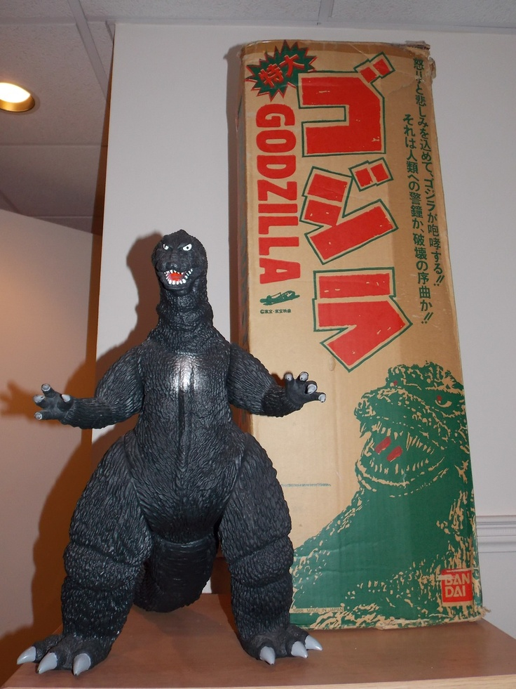 Vintage 1988 Bandai Large Godzilla Figure With The ...