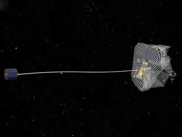 ESA Tests Satellite-Snagging Nets for Orbital Trash Removal | The European Space Agency has been developing a mission to capture and deorbit a piece of debris, and their latest test involves launching weighted anti-junk nets in microgravity.