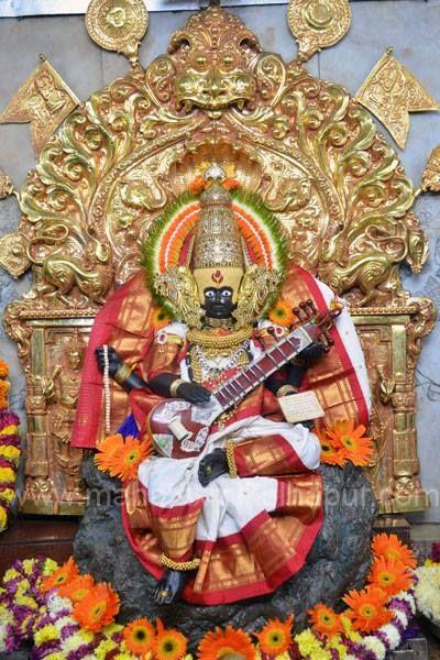 Mahalaxmi Alankaram at Kohlapur - TemplePurohit.com - http://ift.tt/1HQJd81