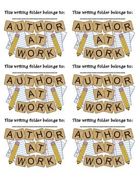 FREE :) Printable Labels for Writing Folders