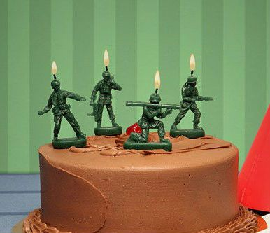 Green Army Men Candles Memes Army Birthday Cakes Army