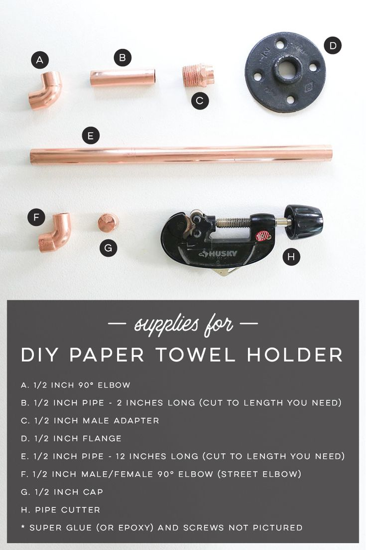 How to Make Rustic Modern Paper Towel Holder using Copper Pipe Fittings | MountainModernLife.com