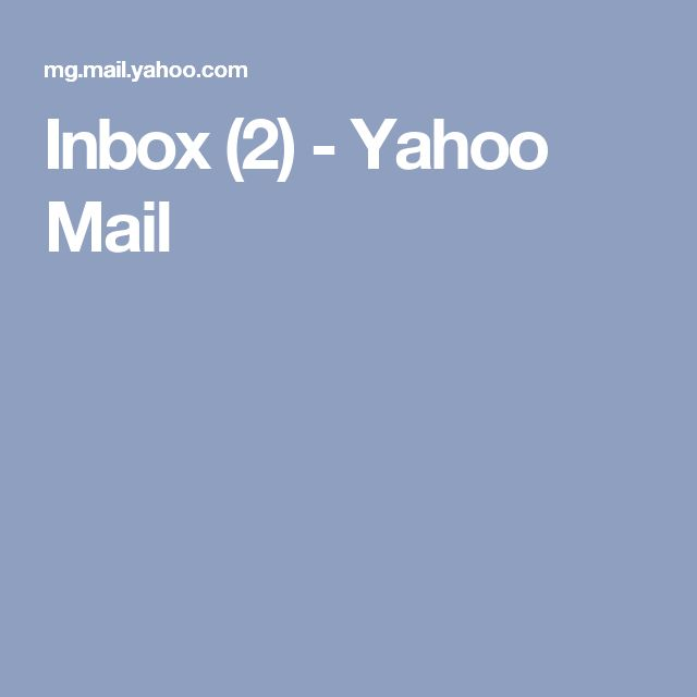 Inbox (2) - Yahoo Mail
