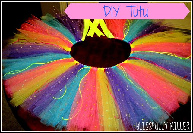 For the Glow Run Blissfully Miller: DIY Tutu - Saw It, Pinned It, Did It!                                                                                                                                                                                 More
