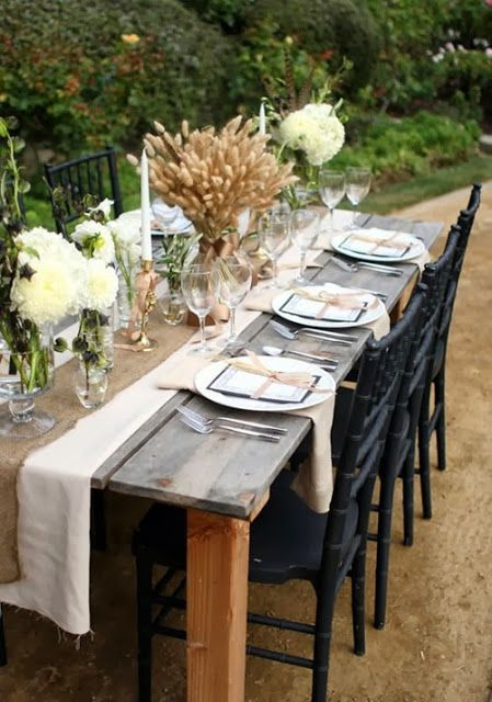 Luxury Outdoor Thanksgiving Table Decorations