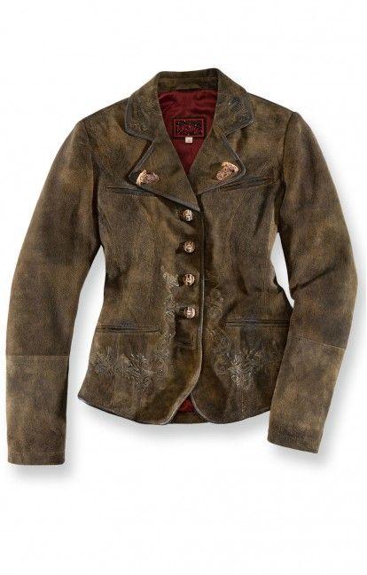 Trachten LEATHER JACKET Bria altbraun Women Leather Jacket