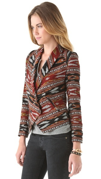 Twelfth St. by Cynthia Vincent - Shawl Collar Ikat Blazer