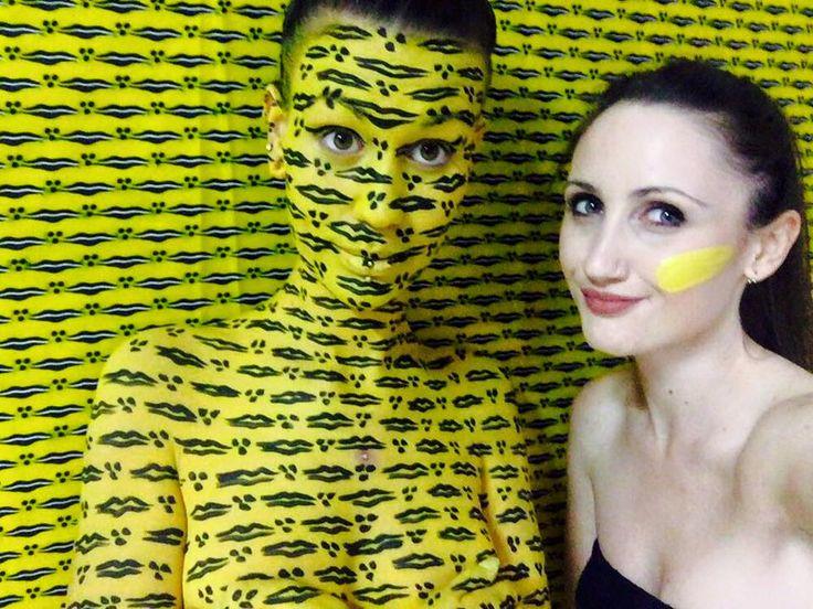 Camouflage Bodypainting for Waxewul, made by Giada Yu Gilardoni