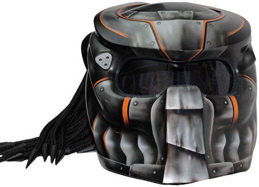 Moto Casco Predator x1Iron with Laser & capelli Rasta Ends Made by xff Fiber Factory
