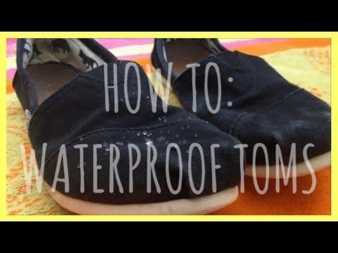 DIY: Waterproof Toms! - YouTube. Beeswax, hair dryer, & gloves.