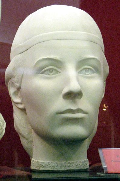 Grand Duchess Elena Glinskaya, mother of Ivan the Terrible. Forensic facial reconstruction by S.A.Nikitin.