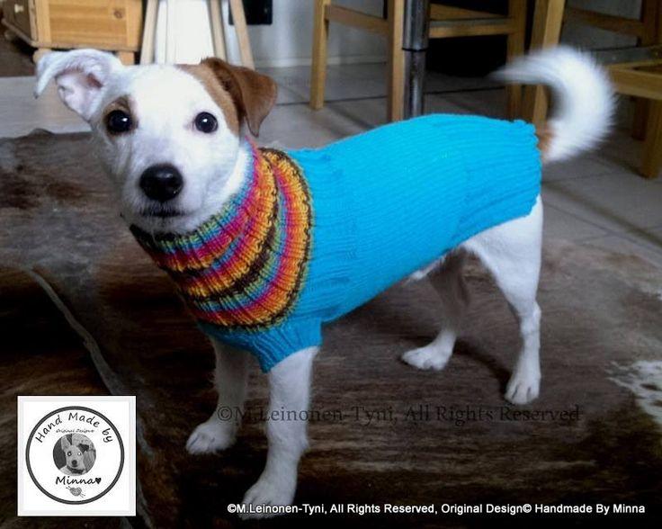 "Koiran ""Sisukas"" villapaita Dog's sweater  Original Design© Handmade By Minna"