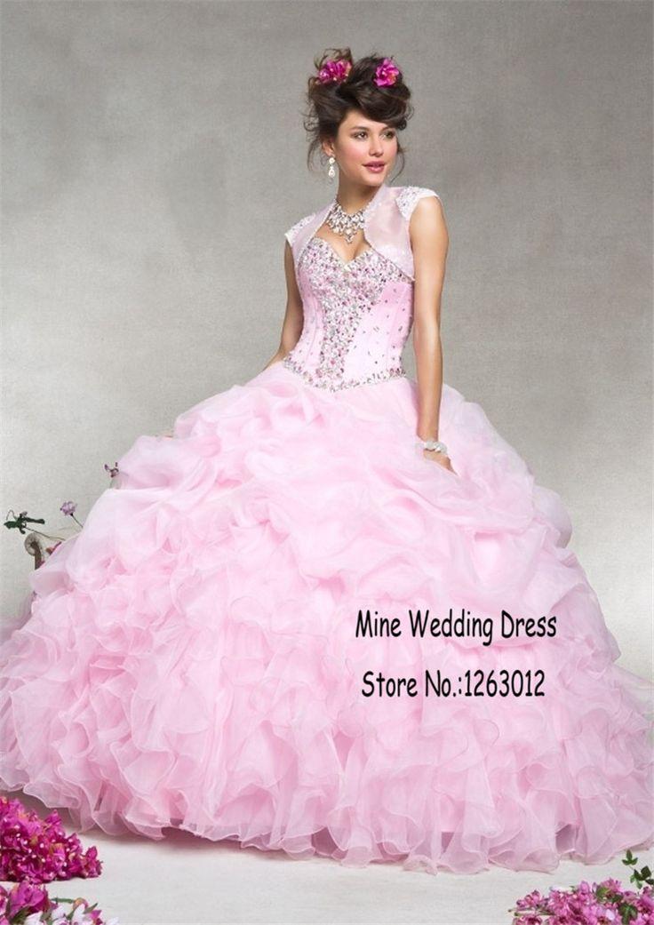 Бисероплетение нового сексуального раффлед органзы пышное платье бальное платье с бусины сладкие 16 платья в течение 15 лет Vestidos Quinceanera