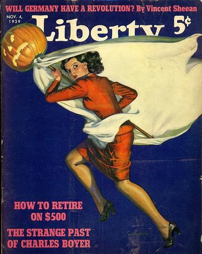 vintage halloween magazine cover liberty magazine - Halloween Magazines