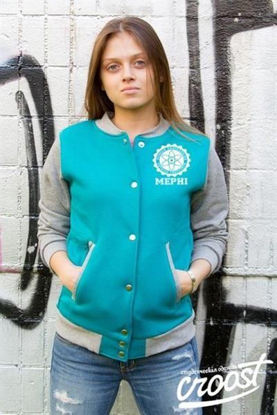 Женская бирюзовая куртка