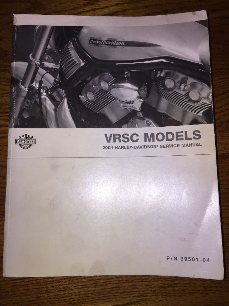 2004 Harley Davidson VRSC  Models ~ PARTS Catalog & SERVICE Manual  | eBay