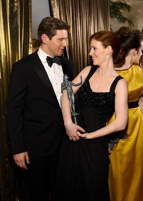 Allen Leech and Amy Nuttall