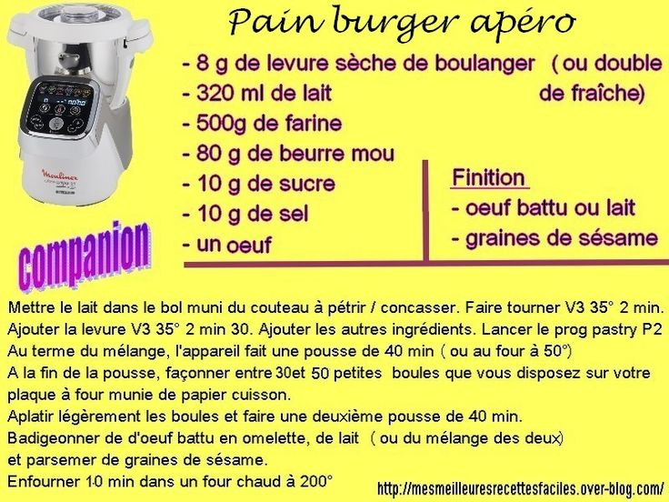 Recette burger apéritif : idéal pour apéro dinatoire (pain burger au companion)