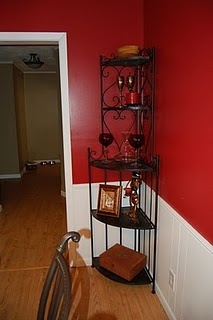 Corner Shelving Unit From Hobby Lobby In Dining Room