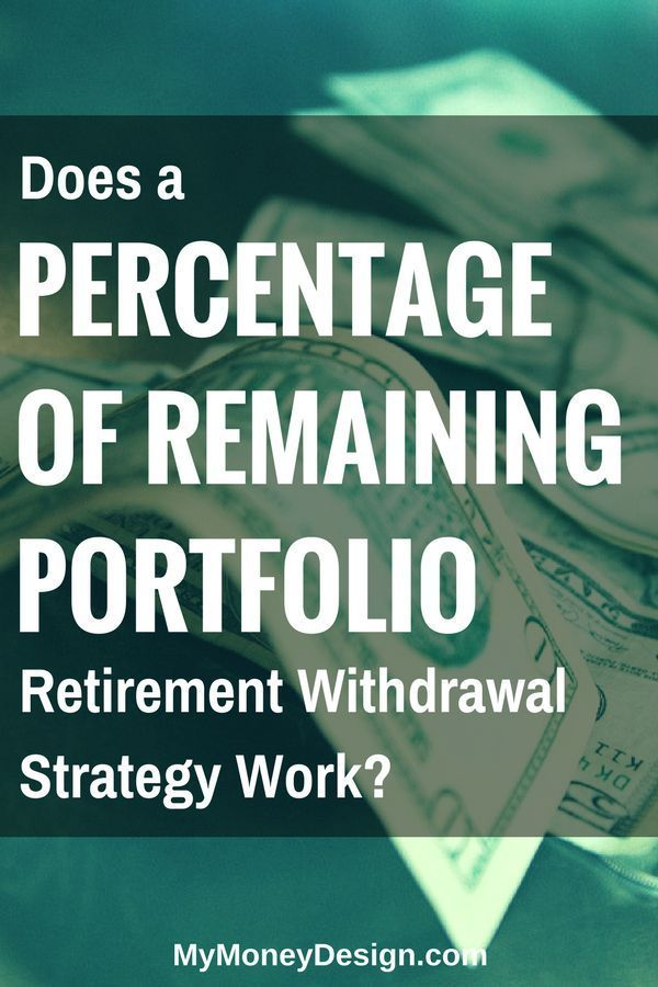 Could There Be Some Merit To A Percentage Of Remaining Balance Retirement Withdrawal Strategy Let S Take A Retirement Strategies Retirement Advice Retirement