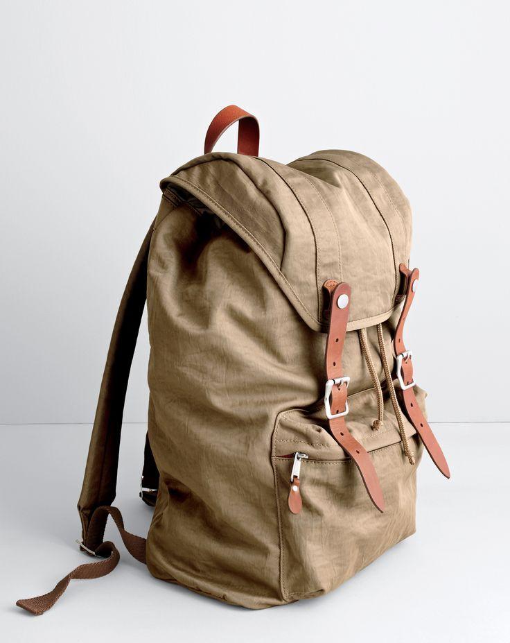 J.Crew men's Harwick backpack. To pre-order, call 800 261 7422 or email verypersonalstylist@jcrew.com.