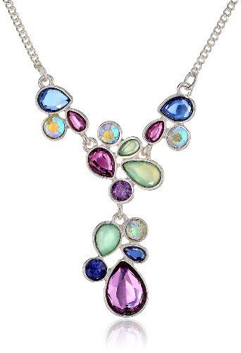 Napier & Sweet Rhythm Silver-Tone Multi-Color Y-Shaped Necklace