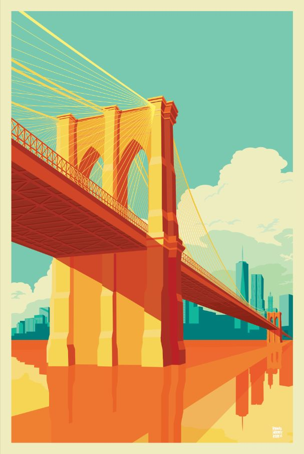 Brooklyn Bridge, NYC by Reemko Heemskerk, 2015, (Behance)