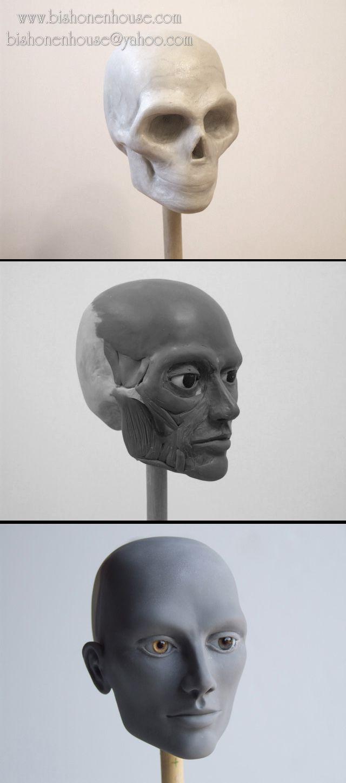 Head Sculpting progress by =BishonenHouse on deviantART