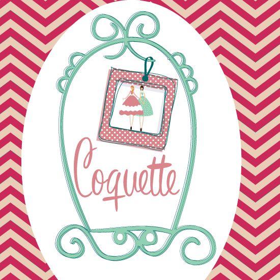 Logotipo Coquette Diseño del logotipo para la tienda de complementos para mujer, Coquette Visita: http://homemademk.com
