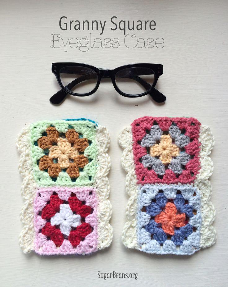 Granny Square Eyeglass Case. SugarBeans.org