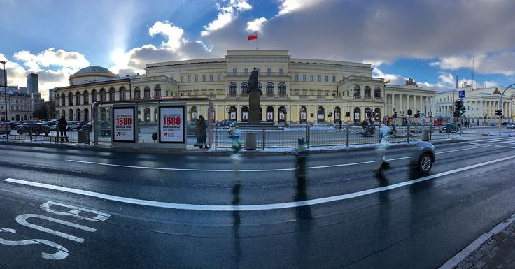 iPhone #panorama #photo taken on #Warsaw's #Marszałkowska featuring The #Palace of the Ministry of Revenues and Treasury and some bits and pieces of passing cars! #Poland #IgersWarsaw #IgersPoland #road #street #urban #city #architecture #history #culture #travel #tourism #tourist #leisure #life