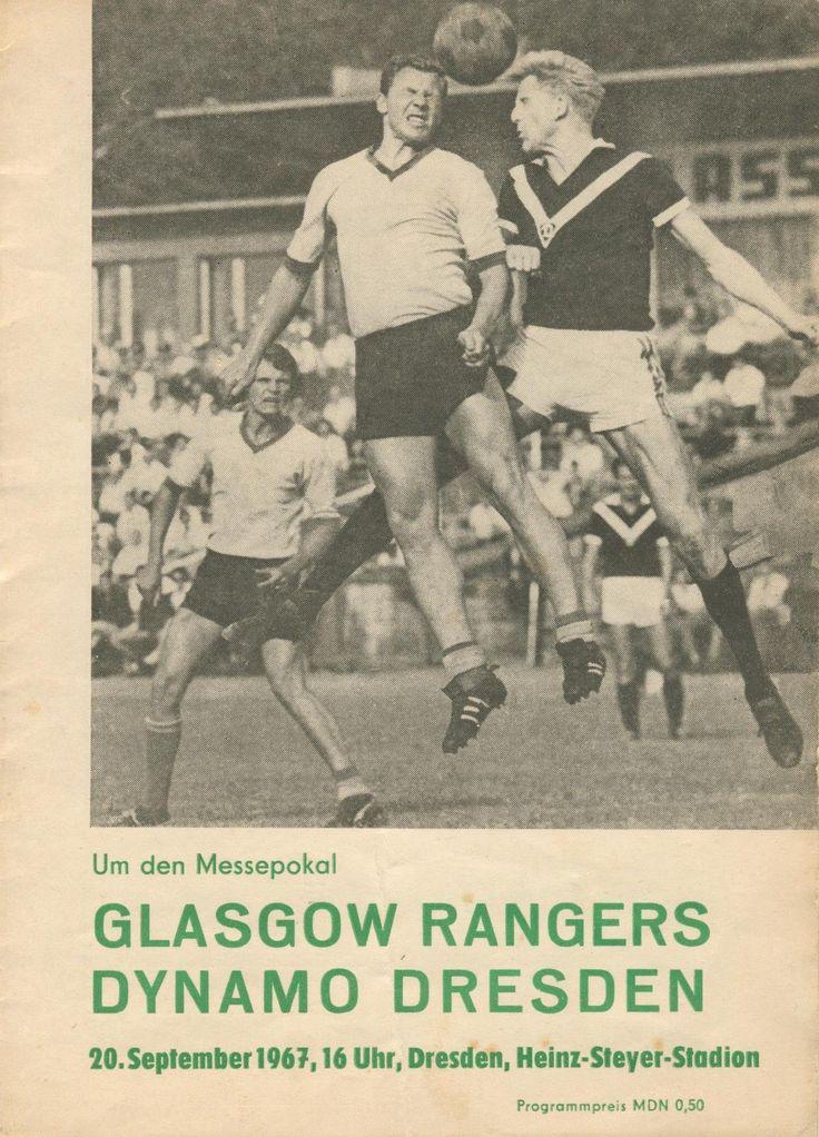 Fairs Cities Cup SG Dynamo Dresden v  Glasgow Rangers 20.9.1967