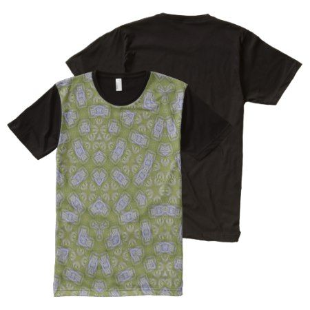 Abstract Pattern yellow All-Over-Print T-Shirt - click/tap to personalize and buy