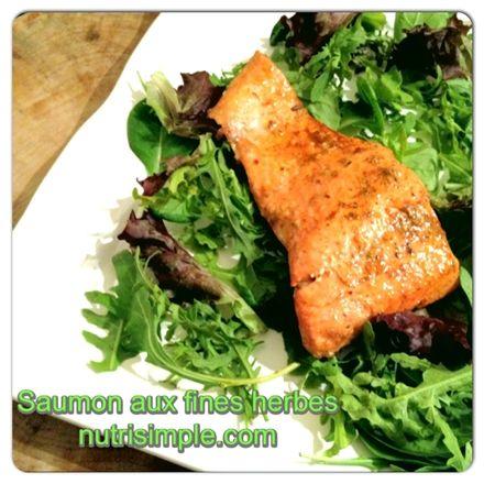 Saumon aux fines herbes - Nutritionnistes NutriSimple