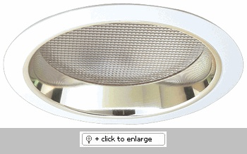"""7"""" Compact Fluorescent Horizontal Reflector Trim with Prismatic Lens  Dimension: 7 1/2"""" O.D."""
