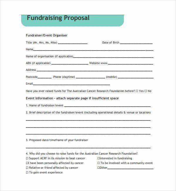 Fundraising Plan Template Free Fresh 11 Fundraising Proposal Templ