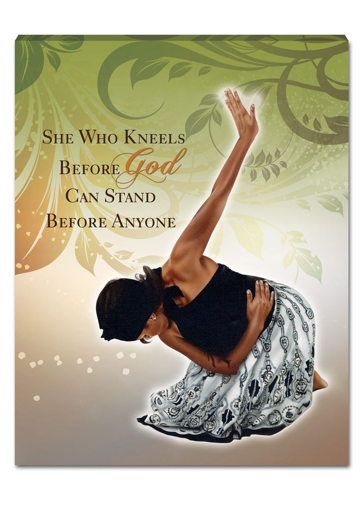 She Who Kneels: African American Canvas Wall Hanging