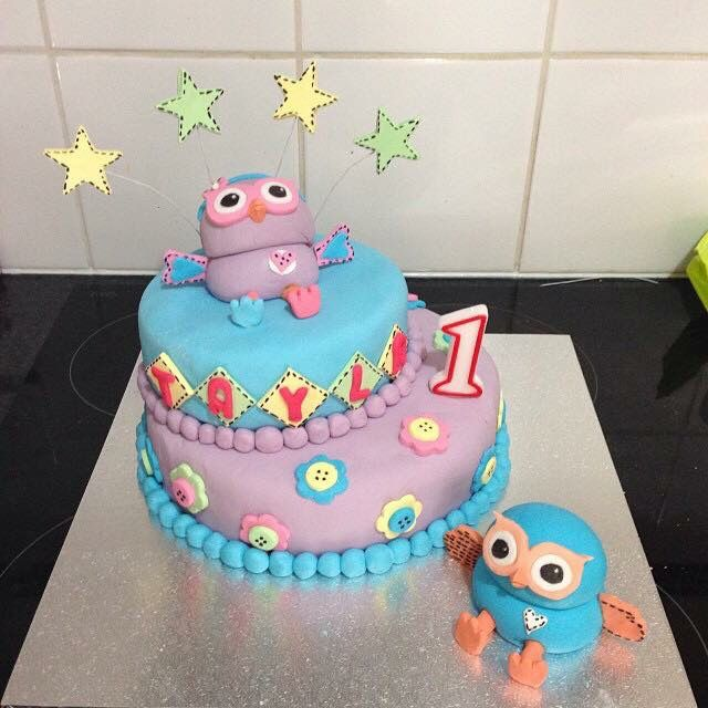 My first ever attempt at a cake. My daughters first birthday cake- hoot and hootabelle
