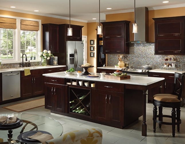 Cherries contemporary kitchen cabinets and bertch cabinets