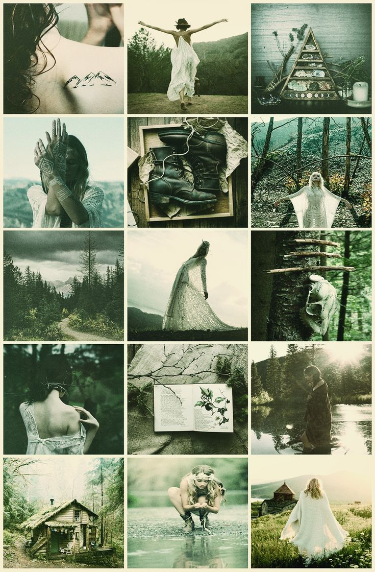Boho Witches Series Ix  Mountains Aesthetic
