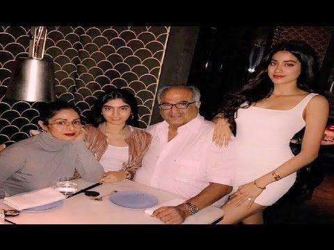 Sridevi with daughters Jhanvi & Khushi celebrates Boney Kapoor's birthday at Hakkasan.