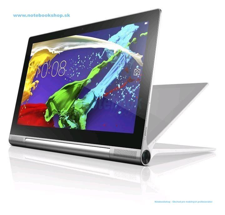 """Lenovo Yoga Tablet 2 Pro 13,3"""" - Yoga Tablet 2 Pro s QHD LCD, projektorom, špičkovým zvukom a so 4 režimami – držanie, Naklonenie, Stojan a Zavesenie. Procesor Intel® Atom™ Processor Z3745 (2M Cache, up to 1.86 GHz), 2GB LPDDR3 RAM, 32 GB e-MMC (rozšíriteľné až do 64GB MicroSD), 13,3"""" QHD IPS, 2560x1440, 10-point multitouch, WiFi 802.11 a/b/g/n, Bluetooth 4.0, GPS, 1x Micro USB (podpora OTG), 1x Micro SD, 1x 3,5mm audio jack, Kamera vpredu 1,6MP HD , vzadu 8MP s bleskom, Operačný systém ..."""