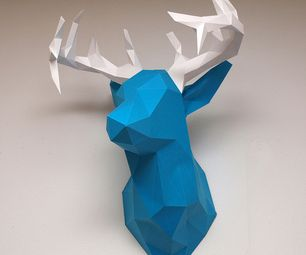 Create faceted deer sculpture. This is not just a printable PDF template, but comes with a very detailed tutorial on how to design your own faceted sculptures. Highly recommended!