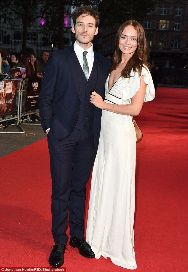 Loved-up! Sam Claflin and wife Laura Haddock dressed to the nines at the London premiere of his new film Their Finest on Thursday