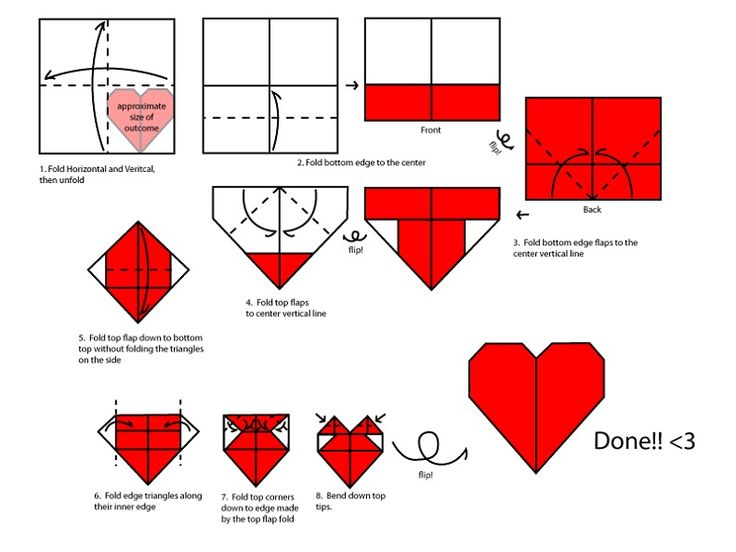 Complete Heart Origami Instruction by IkuzoOrigami.com >> Heart Origami --> http://www.ikuzoorigami.com/simple-heart-love-shape-origami/