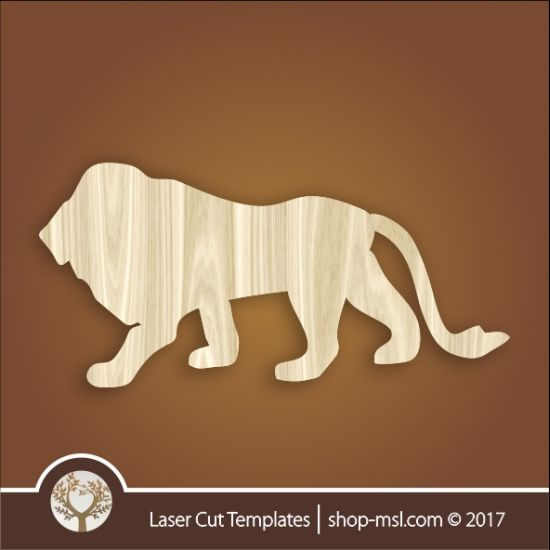 Product Lion template, online design store for laser cut patterns. @ shop-msl.com