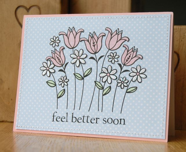 Card Making Ideas For Get Well Cards Part - 20: Handmade Get Well Soon Card