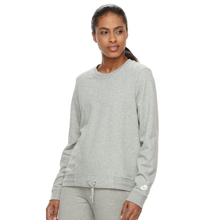 Women's Nike Plush Essential Pullover Hoodie, Size: Medium, Grey Other